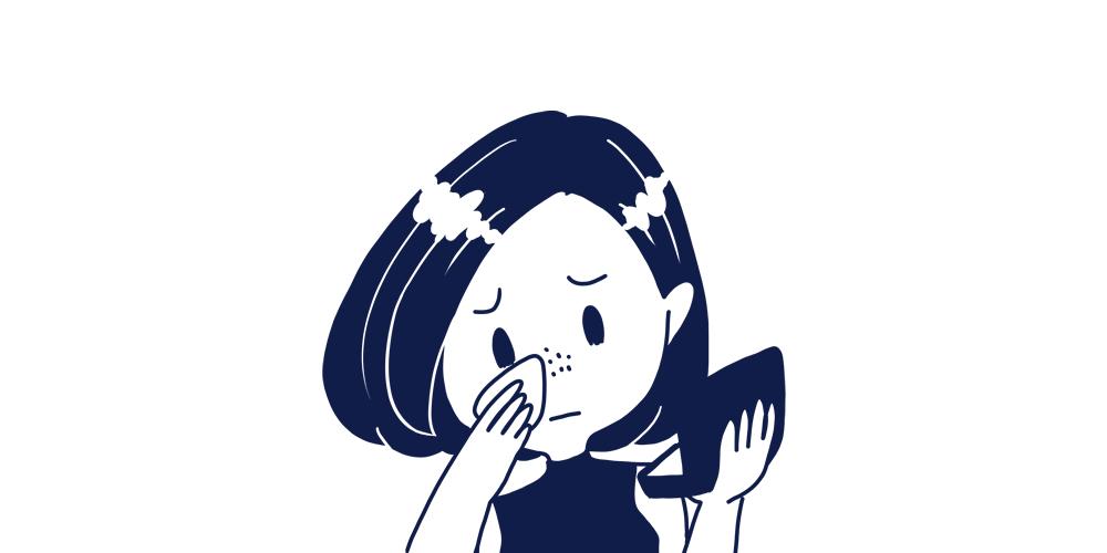 小鼻の黒ずみ(いちご鼻)