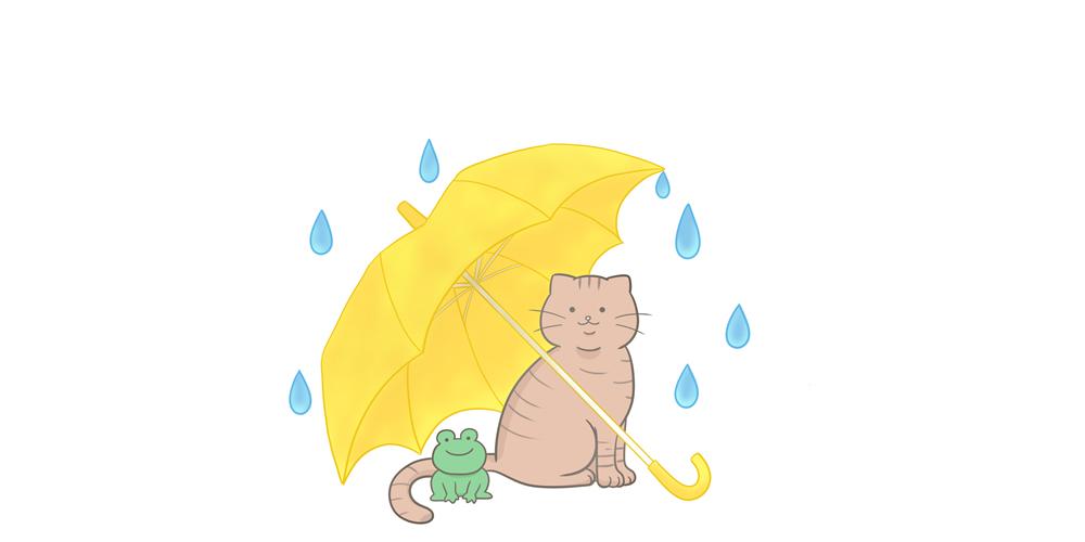 梅雨でじめじめ