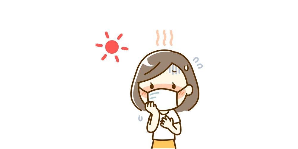 暑い夏、熱中症のイメージ